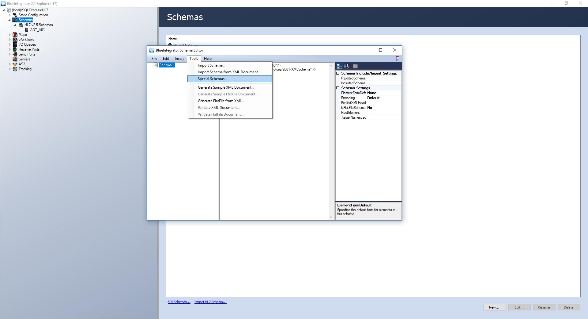 Manage HL7 – Blue Integrator