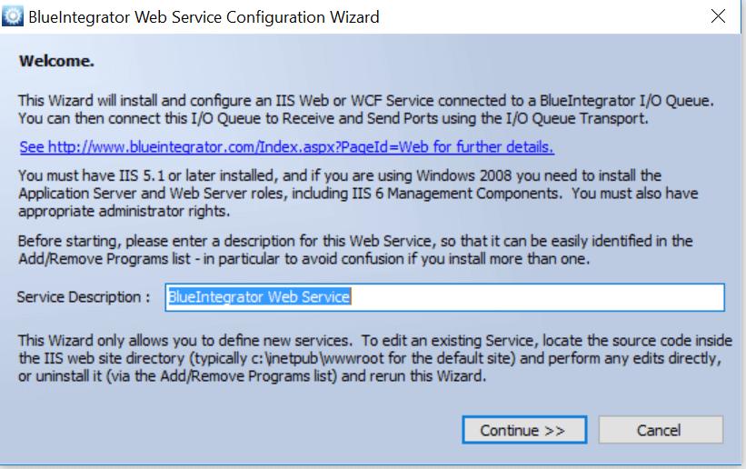 integrera webbaserade program - Web Service - Blue Integrator