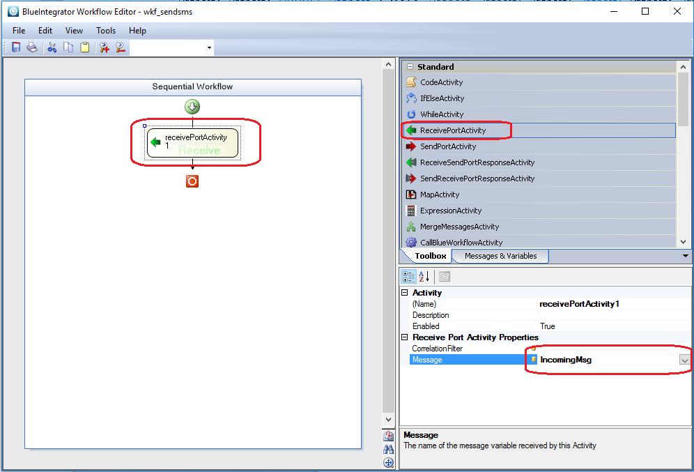 Send sms using the integration engine – Blue Integrator