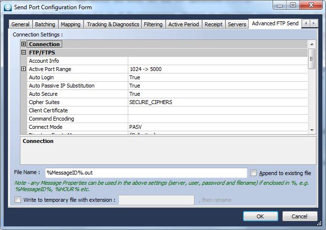 Advanced FTP Transport - Blue Integrator